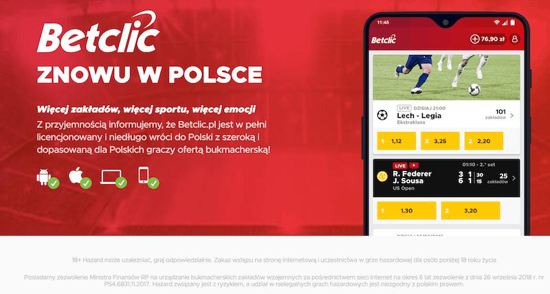 betclic polska oferta zakładów online