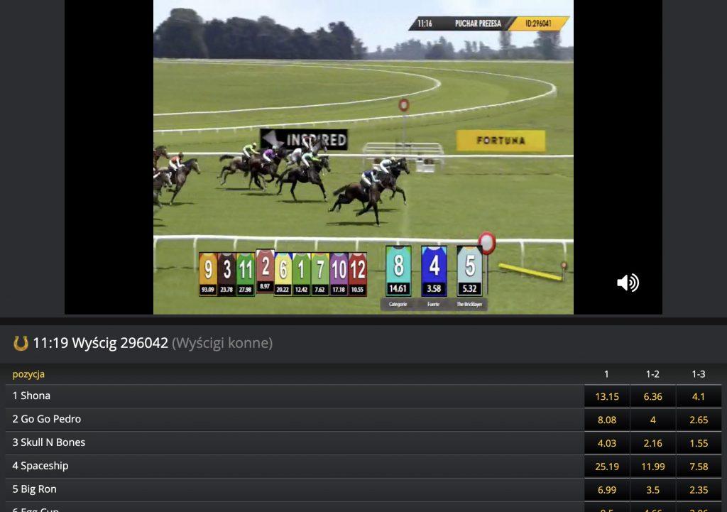 Fortuna - obstawianie wyścigów konnych