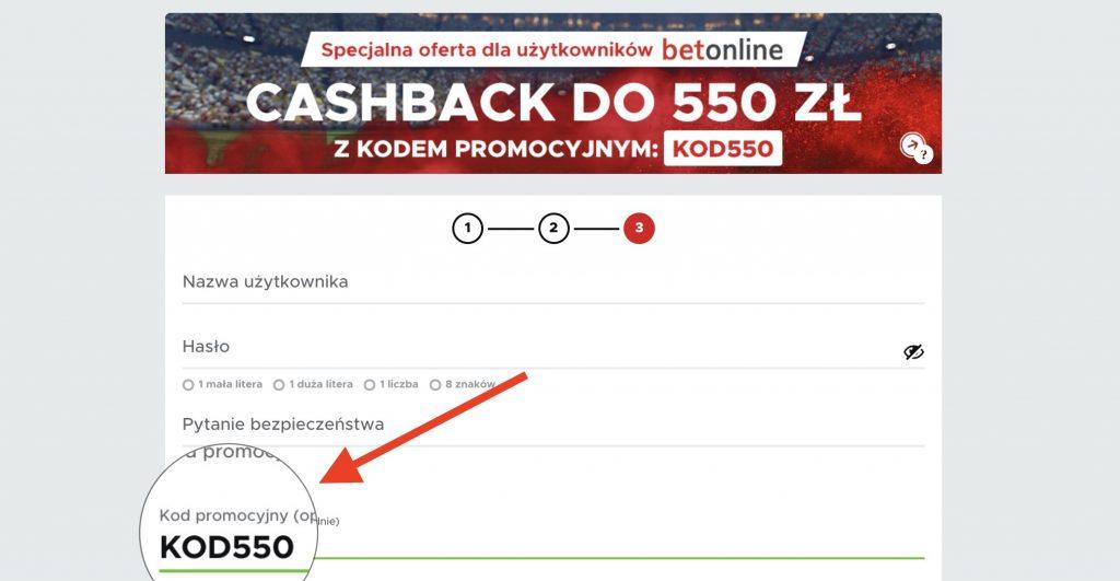 Betclic kod promocyjny KOD550. Cashback największy w Polsce - 550 złotych dla nowych!