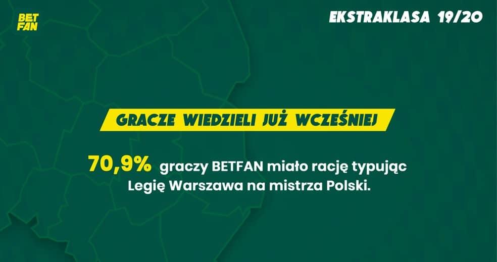Typerzy wiedzieli, że Legia zostanie mistrzem Polski